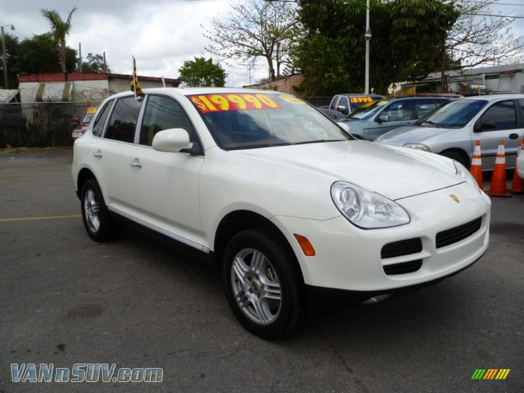 2004 porsche cayenne s in sand white a74313 vans and suvs for sale in the us. Black Bedroom Furniture Sets. Home Design Ideas