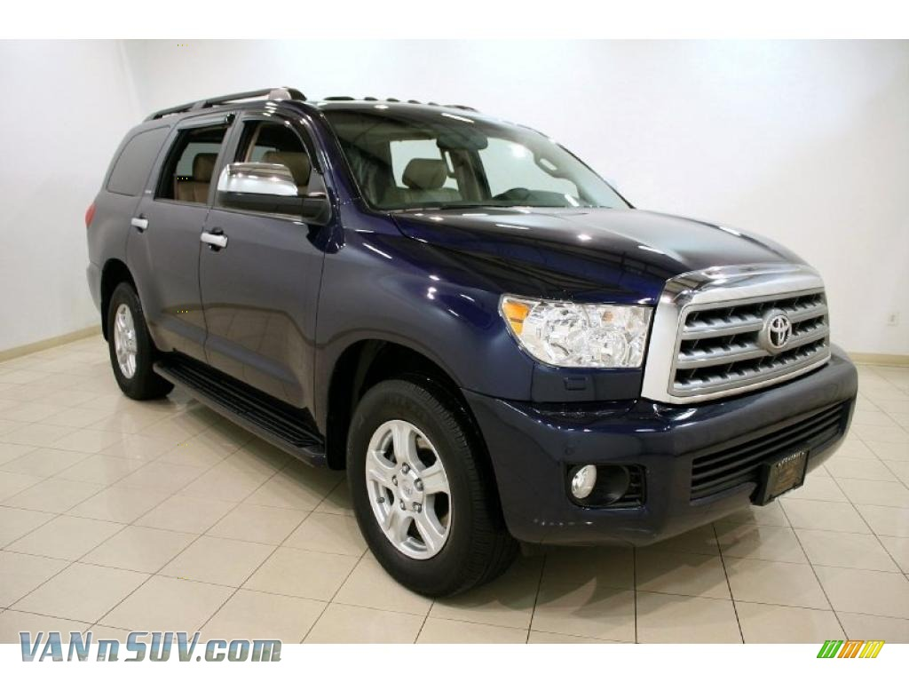 2008 toyota sequoia limited 4wd in nautical blue metallic. Black Bedroom Furniture Sets. Home Design Ideas