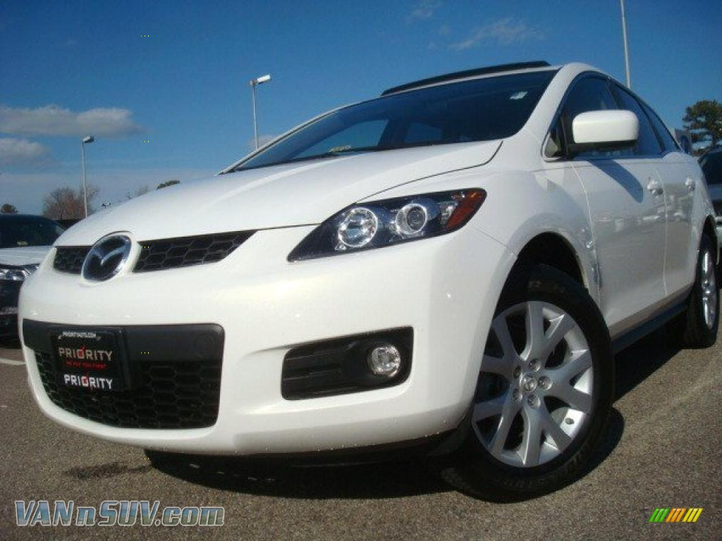 2007 mazda cx 7 grand touring in crystal white pearl mica 148785 vans and suvs. Black Bedroom Furniture Sets. Home Design Ideas