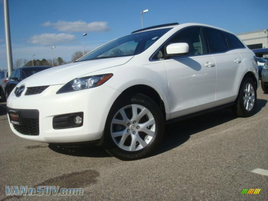 2007 mazda cx 7 grand touring in crystal white pearl mica photo 2 148785 vans. Black Bedroom Furniture Sets. Home Design Ideas