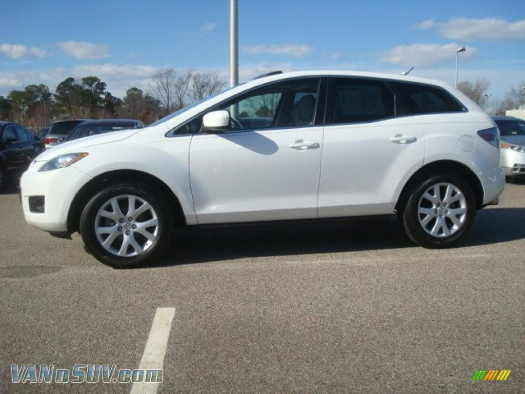 2007 mazda cx 7 grand touring in crystal white pearl mica photo 3 148785 vans. Black Bedroom Furniture Sets. Home Design Ideas