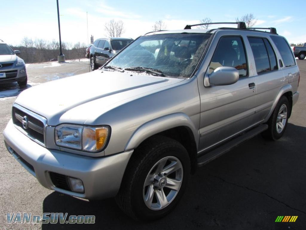 2002 pathfinder le 4x4 chrome silver metallic charcoal photo 1