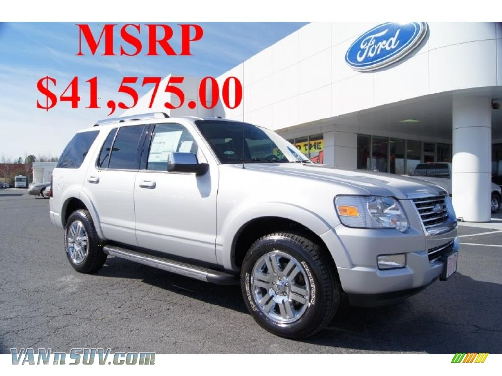 2010 Ford Explorer Limited 4x4 In Brilliant Silver