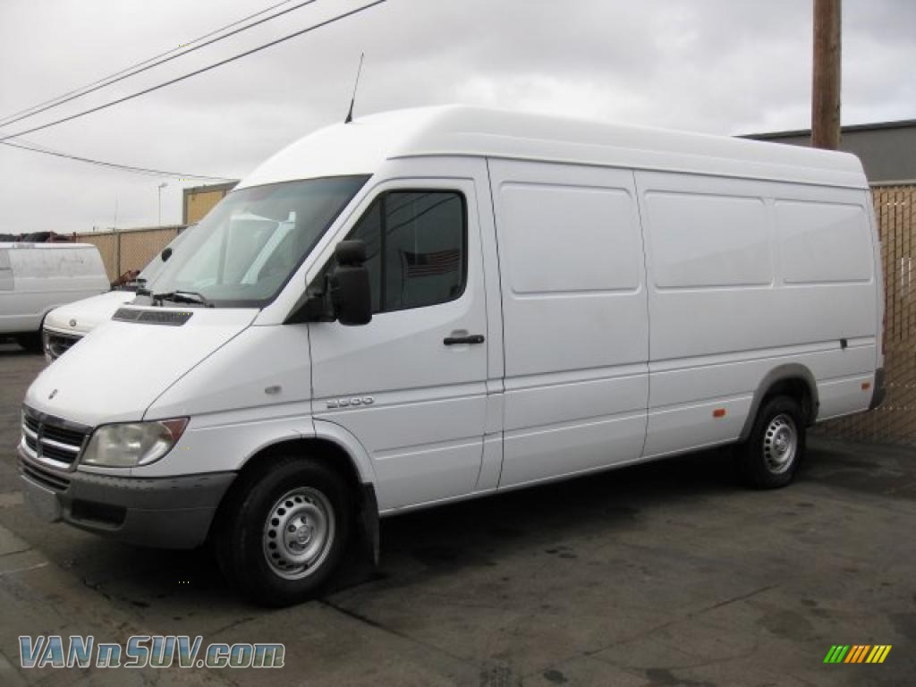 2005 dodge sprinter van 2500 high roof cargo in arctic white 796625 vans and. Black Bedroom Furniture Sets. Home Design Ideas
