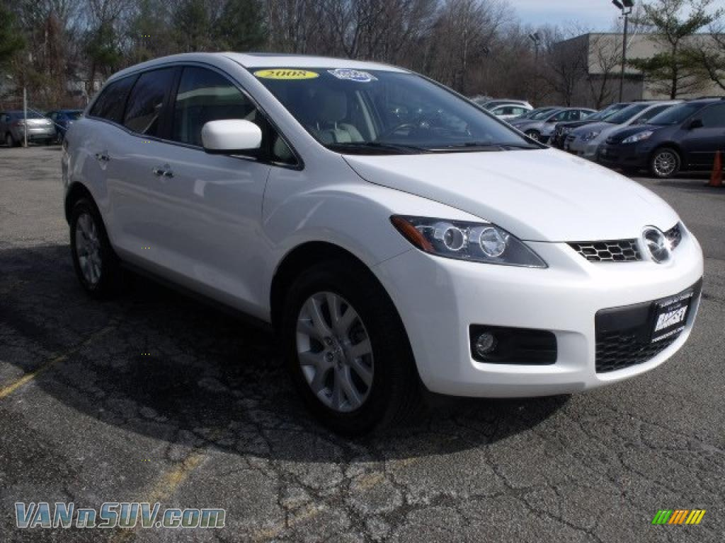 2008 mazda cx-7 grand touring awd in crystal white pearl mica