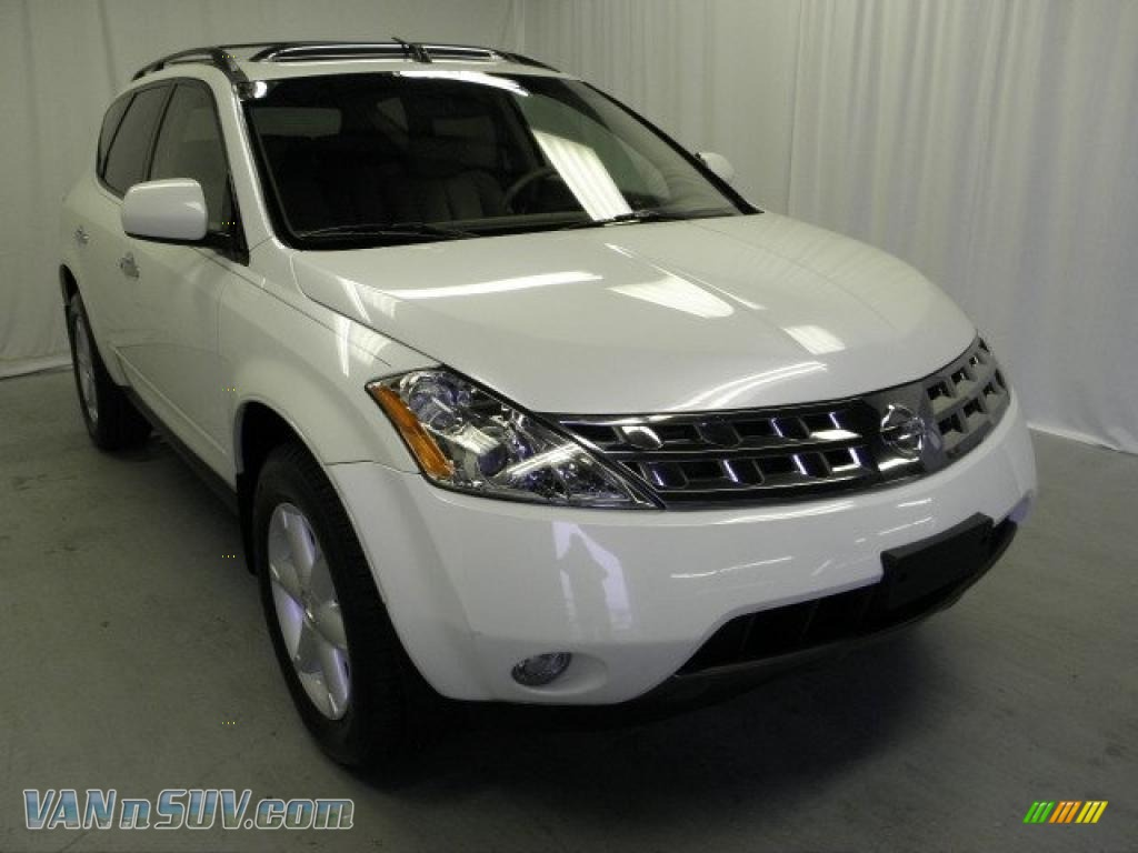 2005 nissan murano se awd in glacier pearl white 415066 vans and suvs for sale. Black Bedroom Furniture Sets. Home Design Ideas