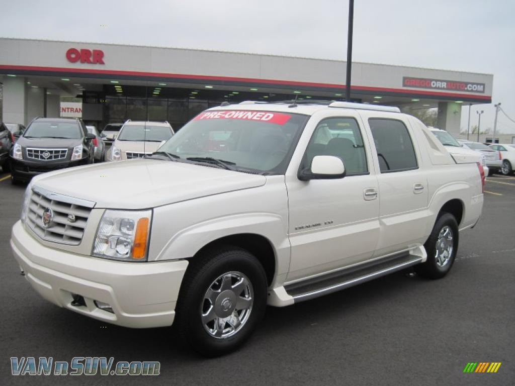 2004 cadillac escalade ext awd in white diamond 303198 vans and suvs for sale. Black Bedroom Furniture Sets. Home Design Ideas