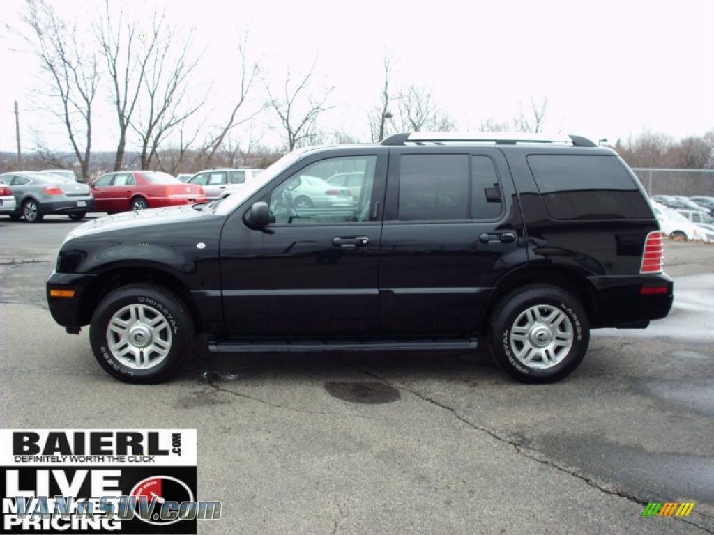 2005 Mercury Mountaineer V6 Premier Awd In Black Photo 4 J23553 Vans And Suvs