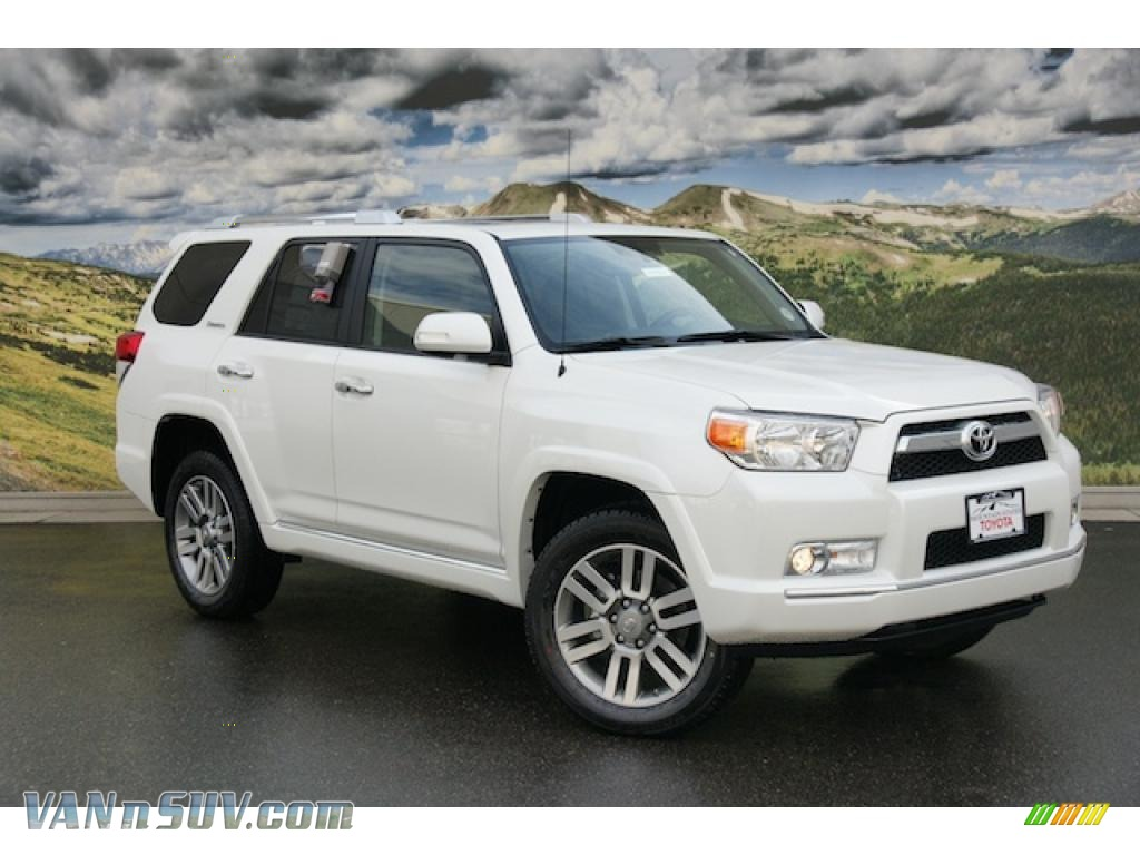 2011 toyota 4runner limited 4x4 in blizzard white pearl 058612 vannsuv com vans and suvs