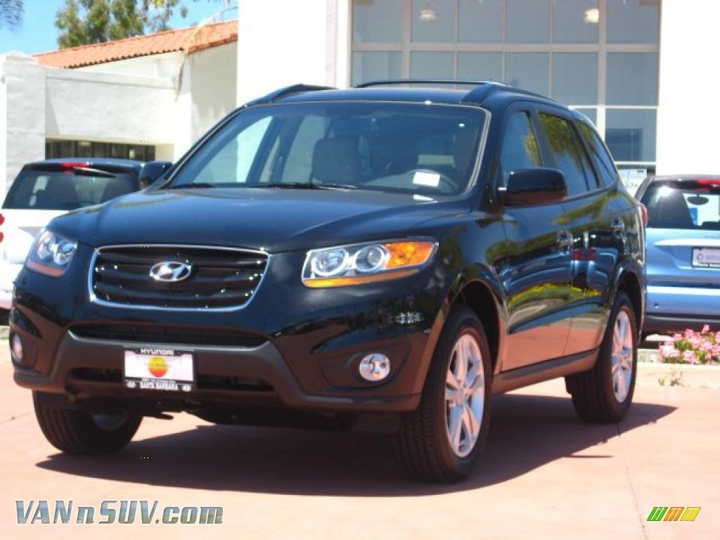 2011 Hyundai Santa Fe Limited Awd In Phantom Black