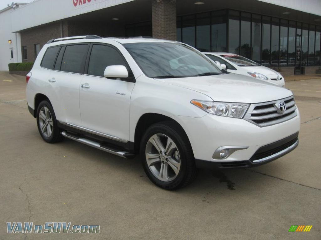 2011 Toyota Highlander Limited In Blizzard White Pearl