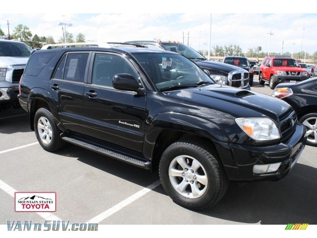 2004 toyota 4runner sport edition 4x4 in black 029989 vans and suvs for sale. Black Bedroom Furniture Sets. Home Design Ideas