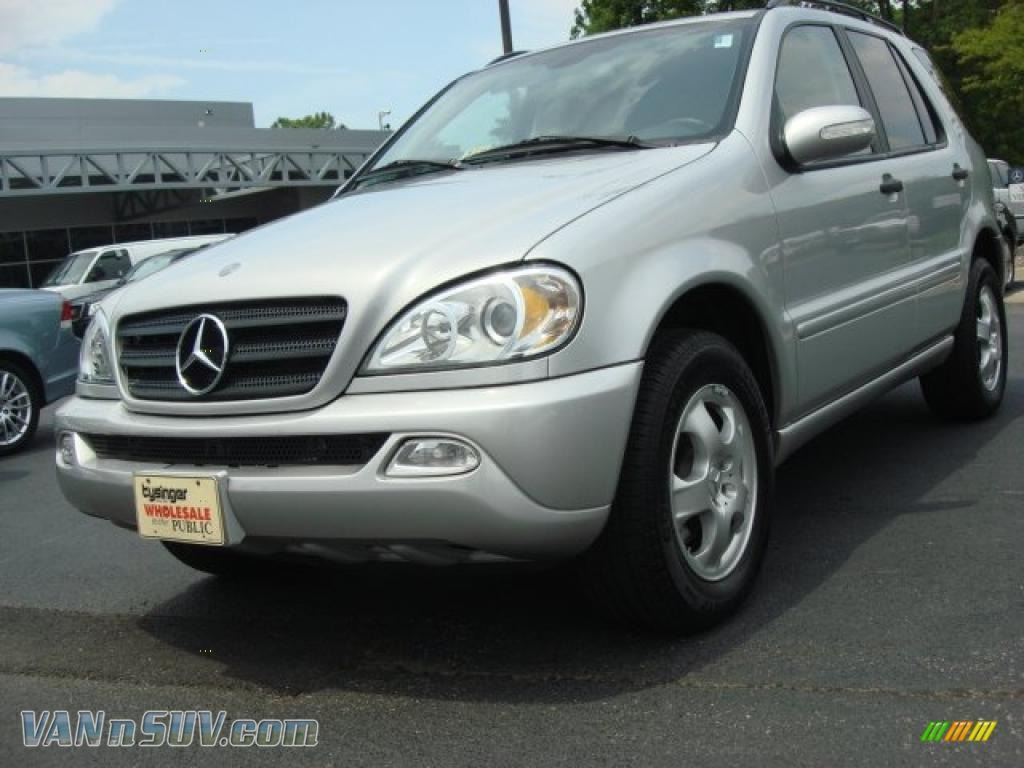 2002 mercedes benz ml 320 4matic in brilliant silver Tysinger motor company