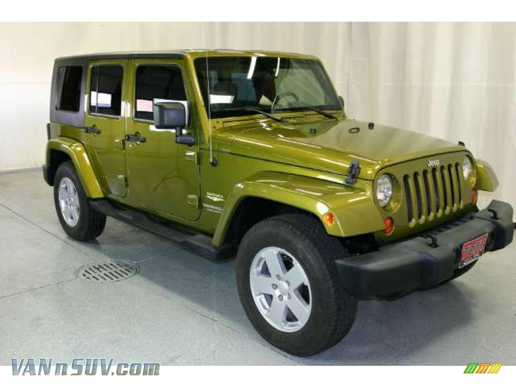 2007 Jeep Wrangler Unlimited Sahara 4x4 in Rescue Green ...