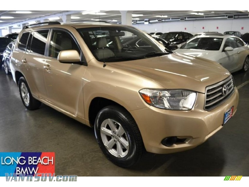 2008 Toyota Highlander In Sandy Beach Metallic 010306