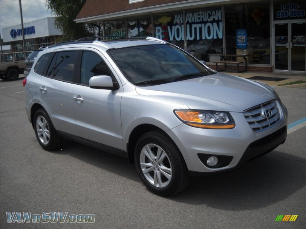 2011 Hyundai Santa Fe Limited Awd In Moonstone Silver