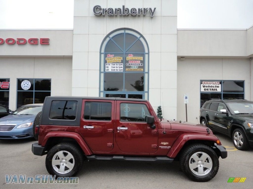 2008 Jeep Wrangler Unlimited Sahara 4x4 In Red Rock Crystal Pearl