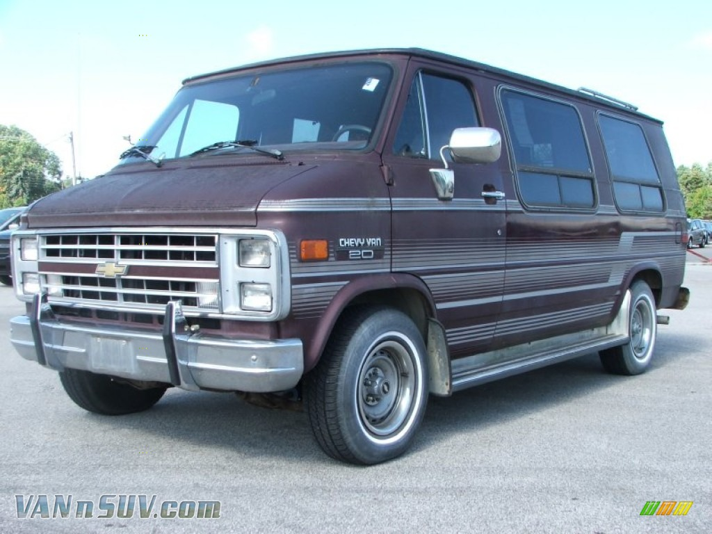 1990 chevrolet chevy van g20 passenger conversion in brown. Black Bedroom Furniture Sets. Home Design Ideas