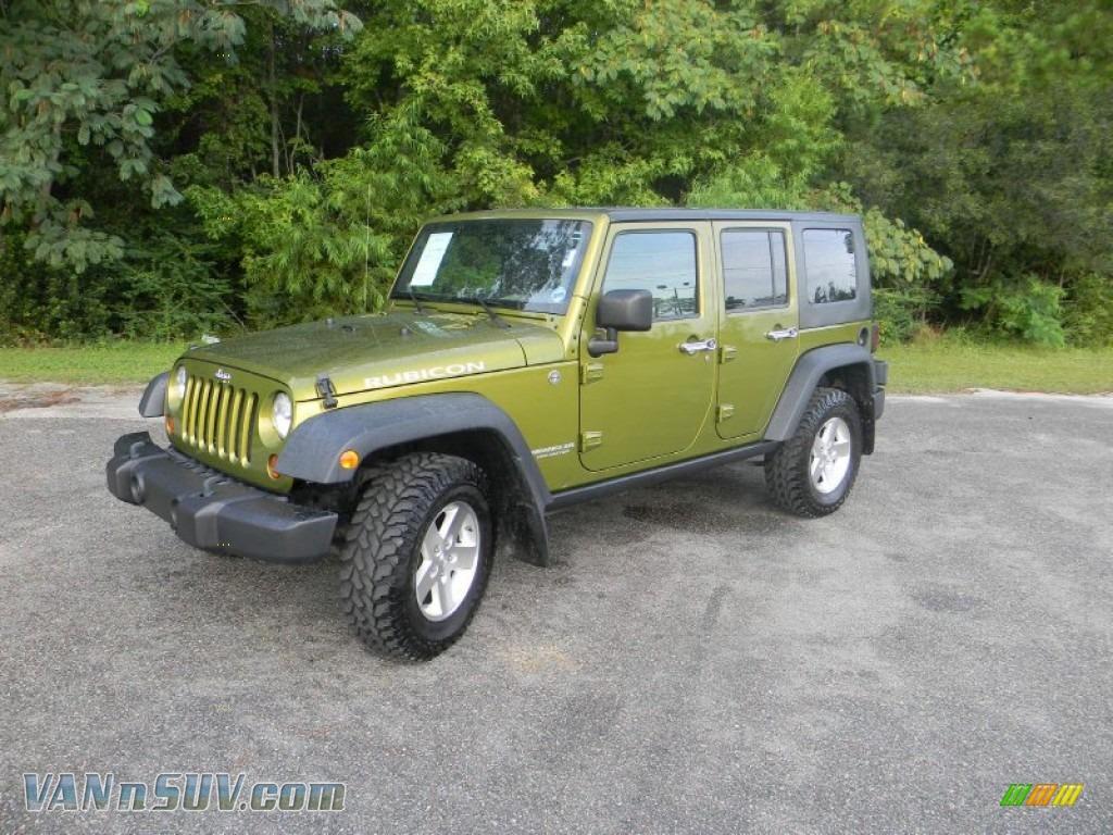 2008 Jeep Wrangler Unlimited Rubicon 4x4 In Rescue Green Metallic