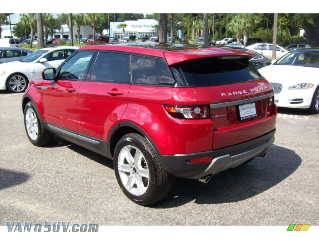 2012 land rover range rover evoque pure in firenze red. Black Bedroom Furniture Sets. Home Design Ideas