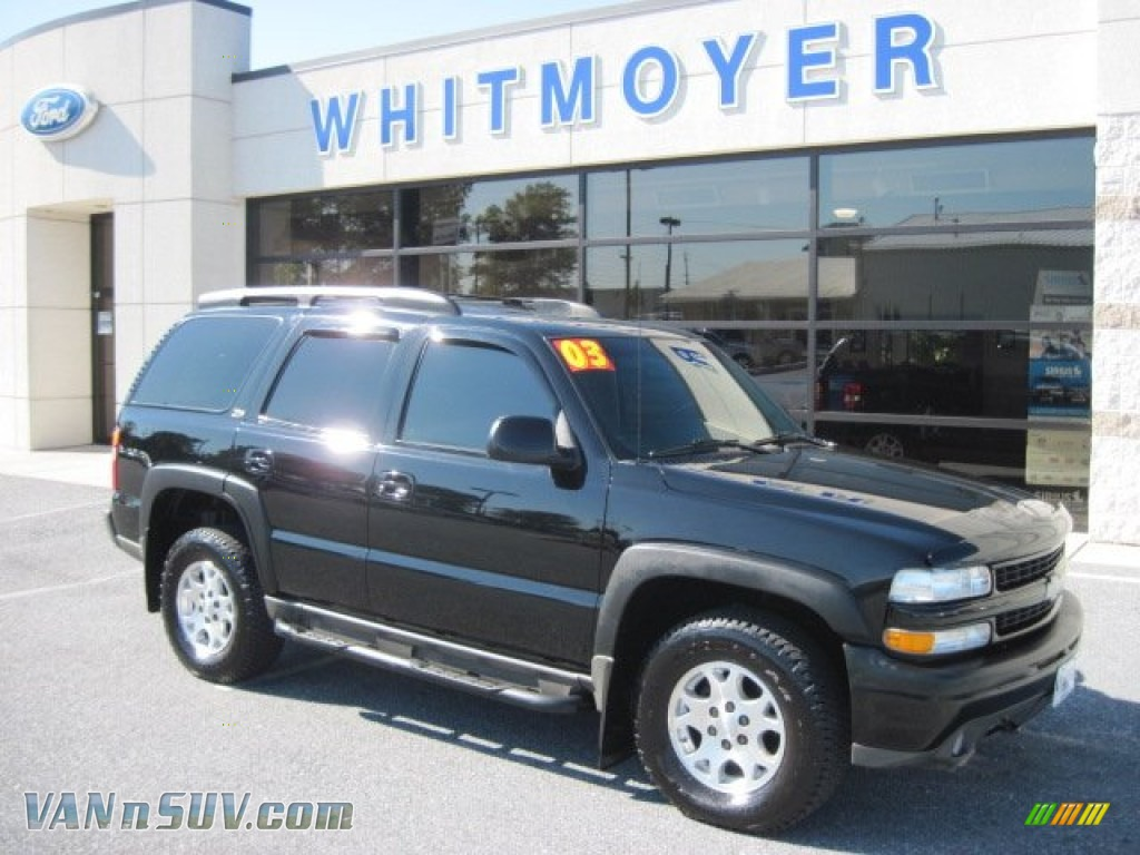 2003 Chevrolet Tahoe Z71 4x4 In Black 280469 Vannsuv Com Vans And Suvs For Sale In The Us