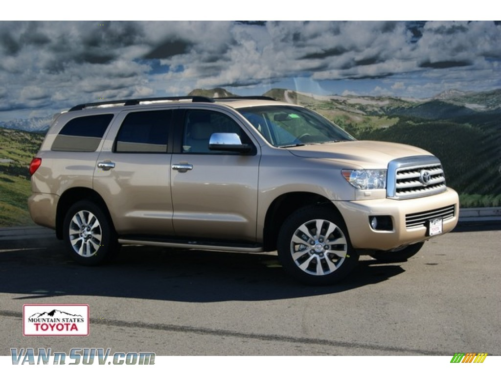 2012 toyota sequoia limited 4wd in sandy beach metallic 057766 vans and suvs. Black Bedroom Furniture Sets. Home Design Ideas