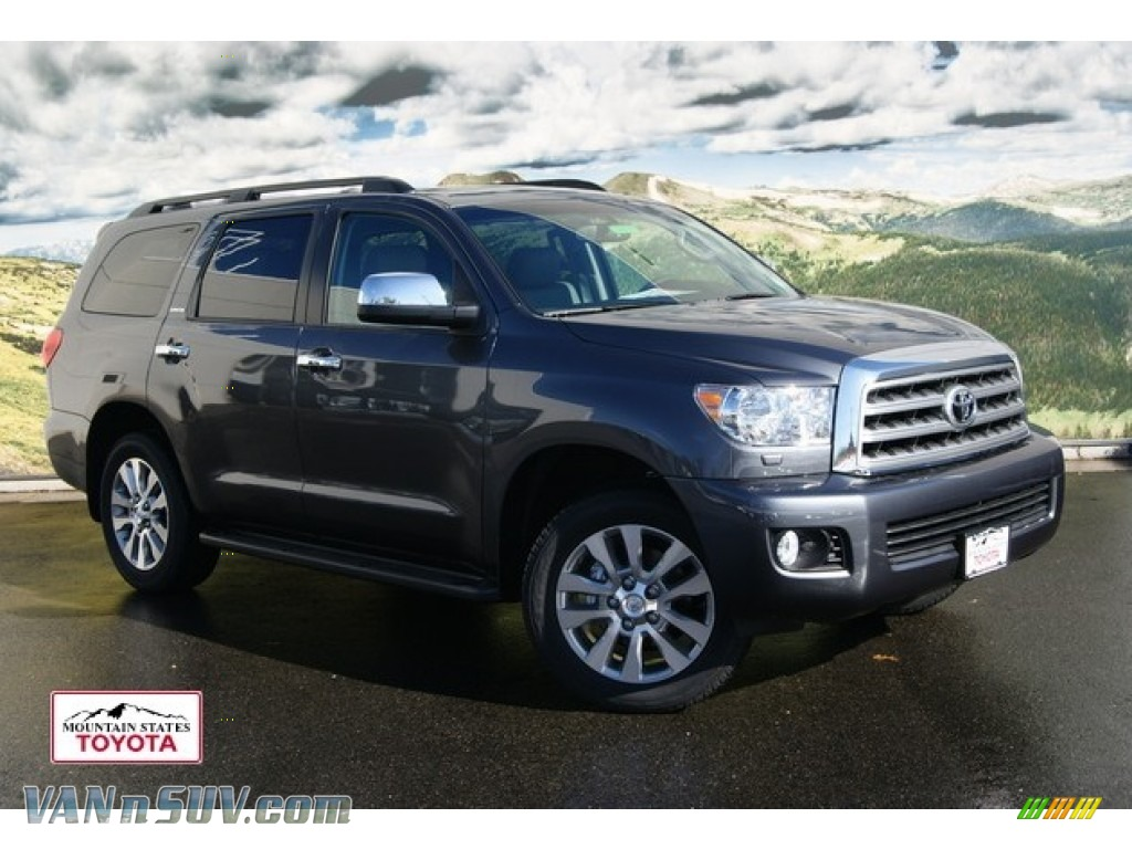 2012 toyota sequoia limited 4wd in magnetic gray metallic 057569 vans and suvs. Black Bedroom Furniture Sets. Home Design Ideas