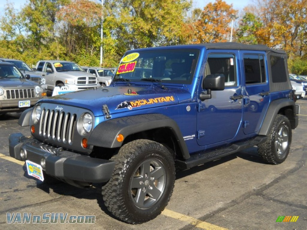 2010 Jeep Wrangler Unlimited Mountain Edition 4x4 In Deep