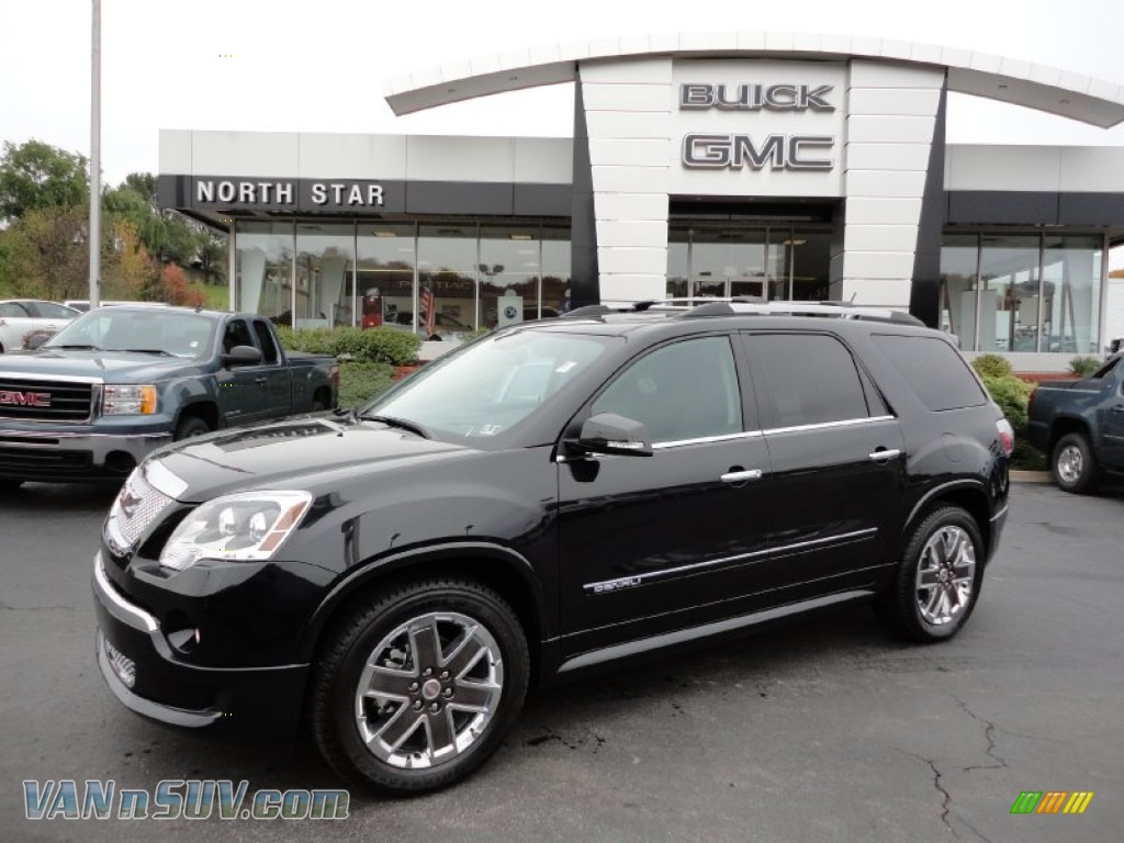2012 Gmc Acadia Denali Awd In Carbon Black Metallic 175054 Vannsuv Com Vans And Suvs For Sale In The Us