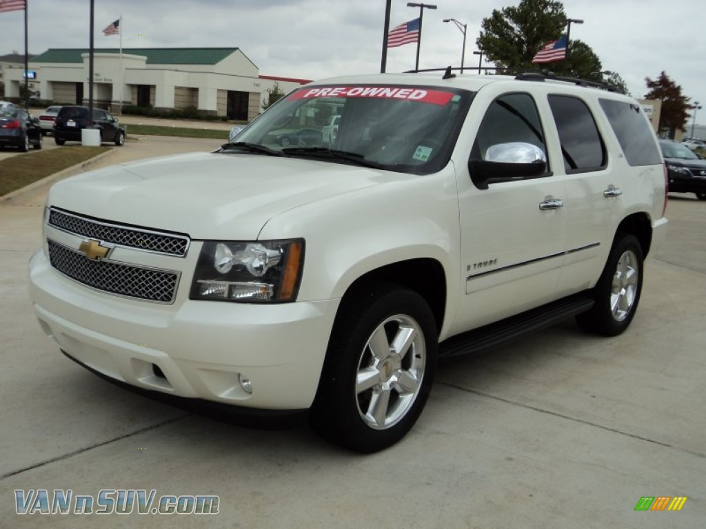 2009 chevrolet tahoe ltz in white diamond tricoat 253476 vans and suvs for. Black Bedroom Furniture Sets. Home Design Ideas