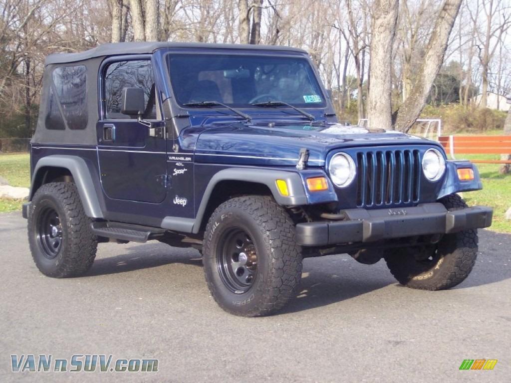 2000 Jeep Wrangler Sport 4x4 in Patriot Blue Pearl ...