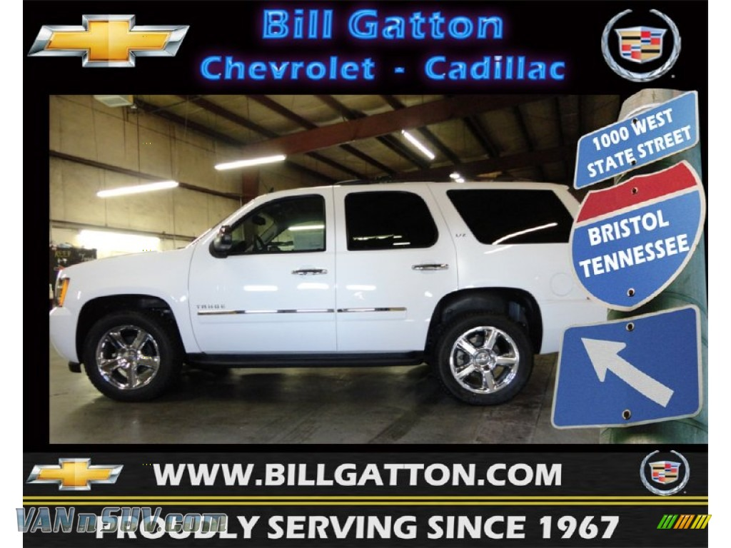 2012 chevrolet tahoe ltz 4x4 in summit white 173645 vans and suvs for sale in. Black Bedroom Furniture Sets. Home Design Ideas