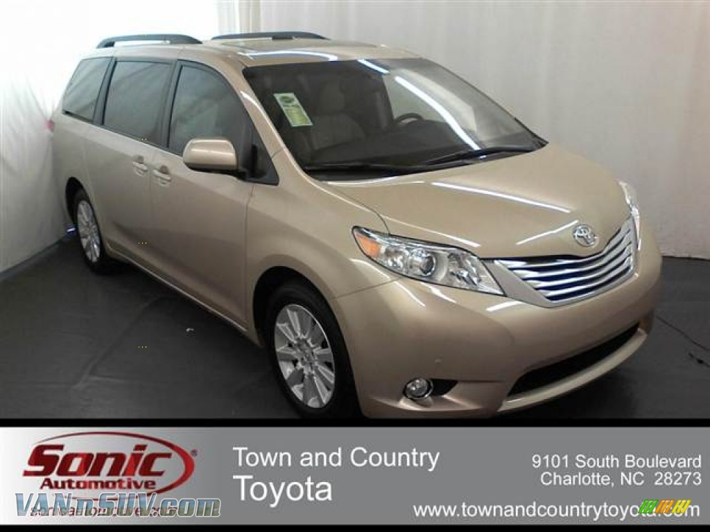 2012 toyota sienna limited awd in sandy beach metallic photo 4 040358 vans. Black Bedroom Furniture Sets. Home Design Ideas