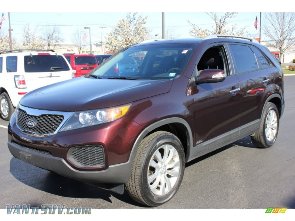 2011 Sorento LX V6 AWD - Dark Cherry / Black photo #1