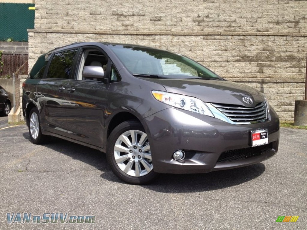2012 Toyota Sienna Limited Awd In Predawn Gray Mica