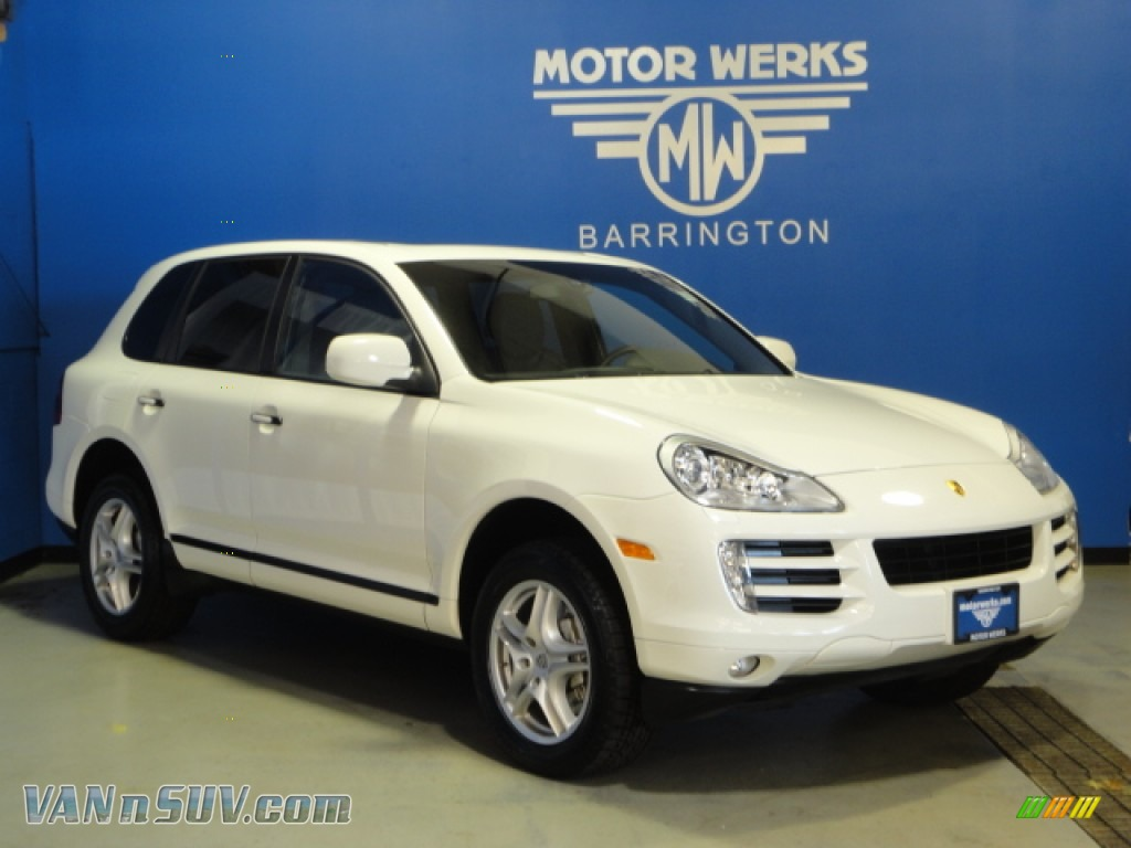 2009 porsche cayenne s in sand white a46054 vannsuv for Motor werks barrington used cars