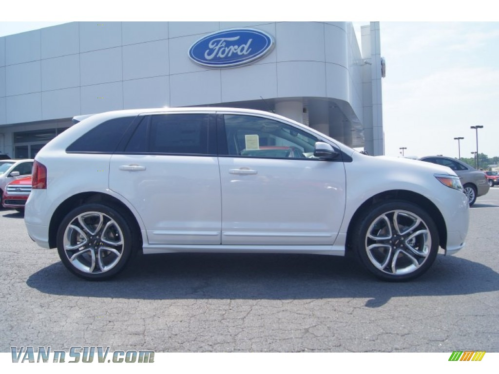 2013 ford edge sport in white platinum tri coat photo 2 a56792 vans and suvs. Black Bedroom Furniture Sets. Home Design Ideas
