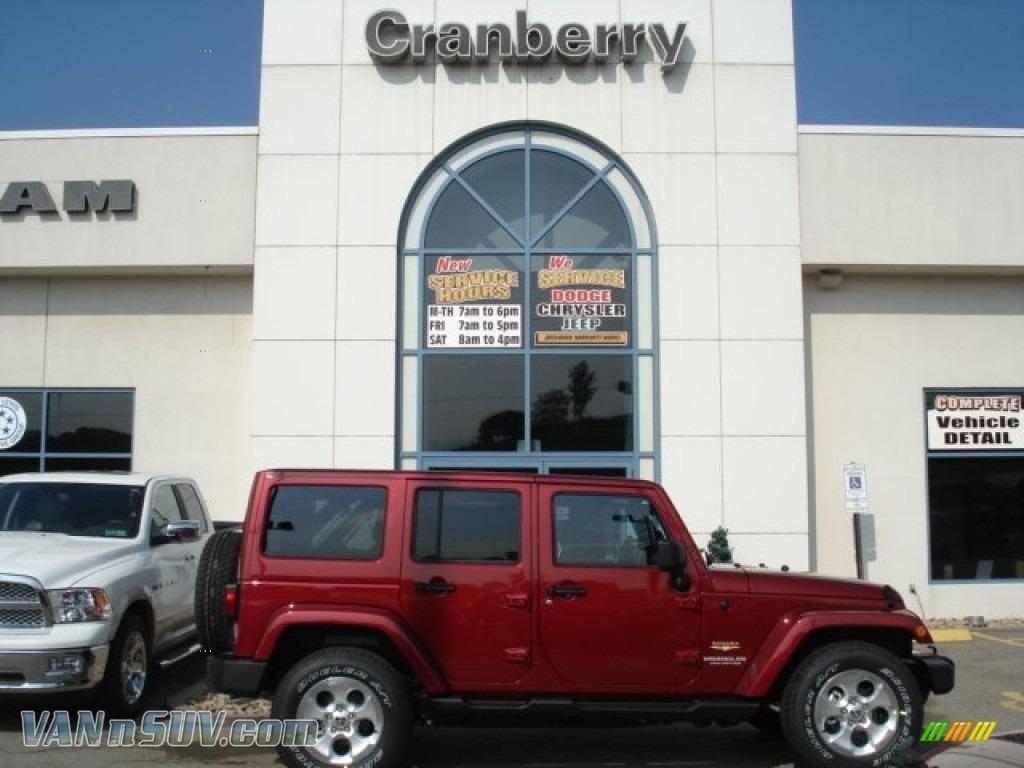 2013 Jeep Wrangler Unlimited Sahara 4x4 In Deep Cherry Red Crystal