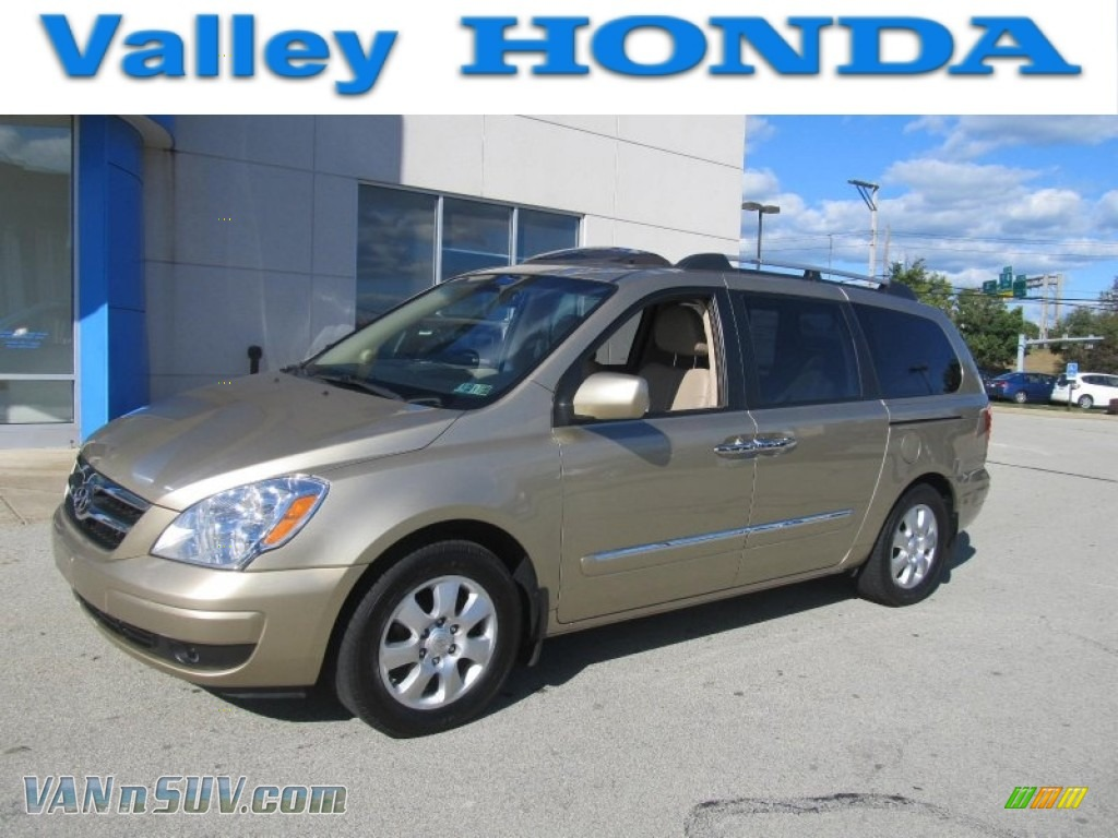 2008 Hyundai Entourage Gls In Sonora Gold 047858