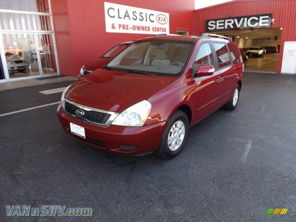 2012 kia sedona lx in claret red 504691 vans and suvs for sale in the us. Black Bedroom Furniture Sets. Home Design Ideas