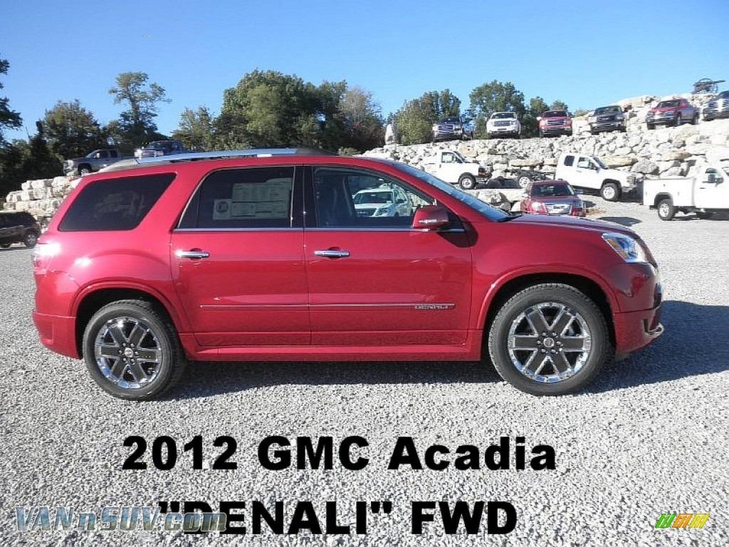 2012 gmc acadia denali in crystal red tintcoat 410179 vans and suvs for sale. Black Bedroom Furniture Sets. Home Design Ideas