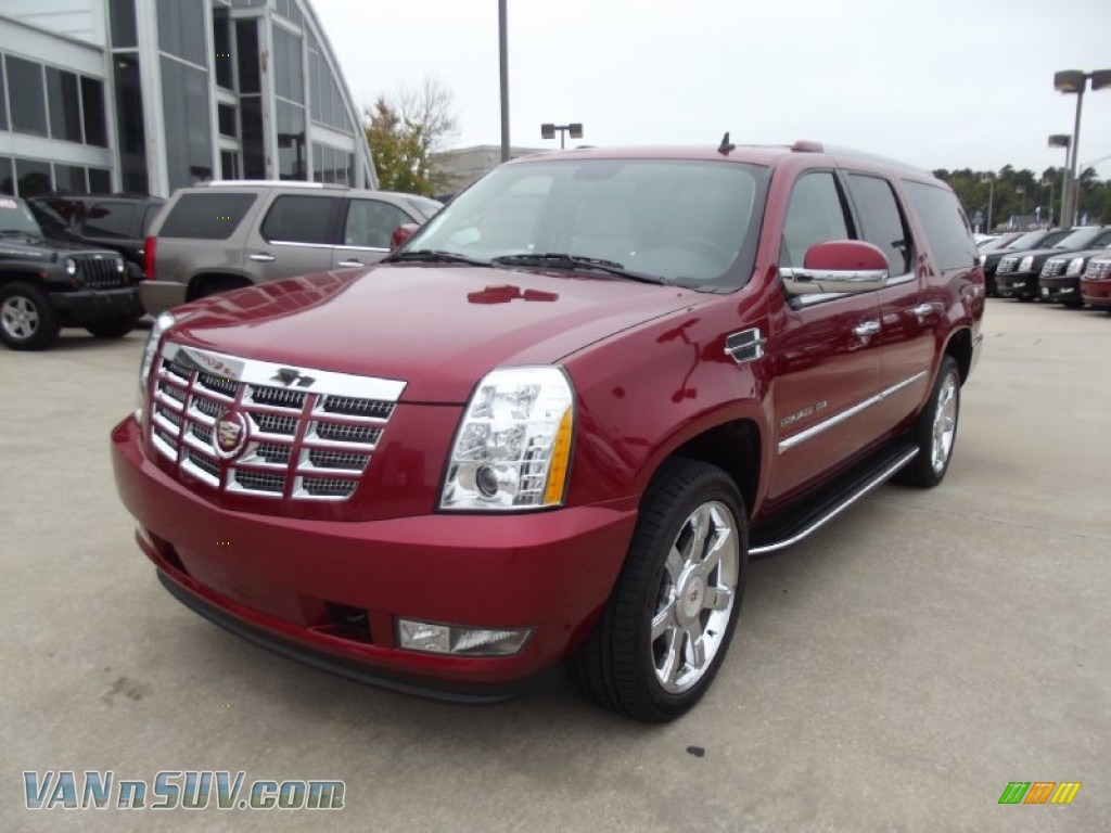 2013 cadillac escalade esv luxury in crystal red tintcoat 181489 vannsuv com vans and suvs