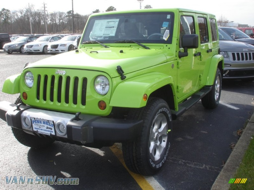 2013 Jeep Wrangler Unlimited Sahara 4x4 in Gecko Green Pearl ...