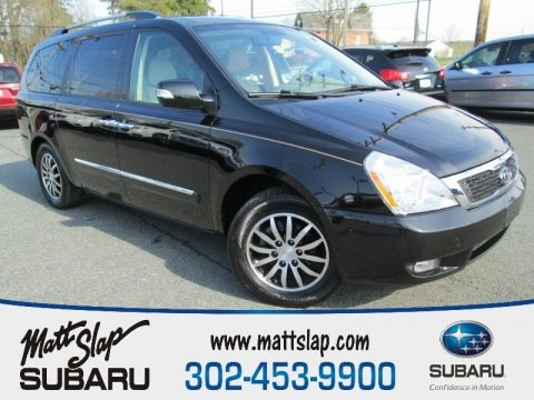 Midnight Black 2011 Kia Sedona EX