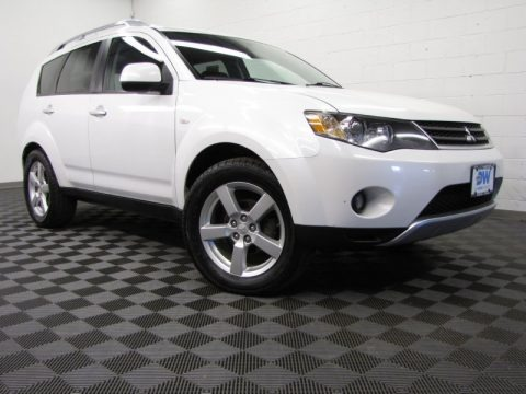 Diamond White Pearl 2007 Mitsubishi Outlander XLS 4WD