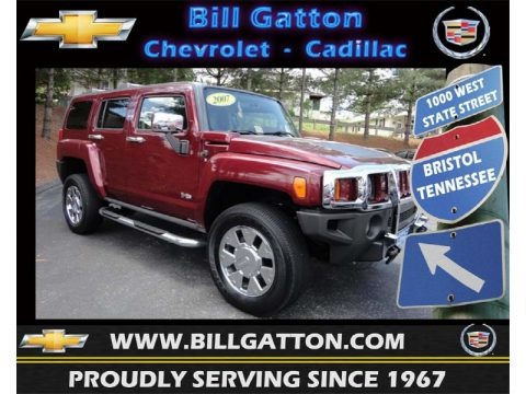 Sonoma Red Metallic 2007 Hummer H3