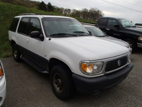 Oxford White 1999 Mercury Mountaineer 4WD