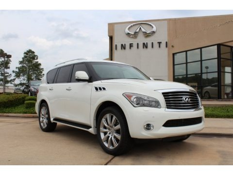Moonlight White 2013 Infiniti QX 56