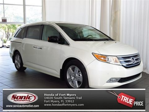 White Diamond Pearl 2013 Honda Odyssey Touring Elite