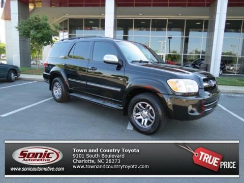 Black 2007 Toyota Sequoia Limited